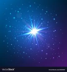 Shining star glow light effect Royalty Free Vector Image